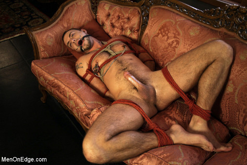 Bound gagged moaned cock cunt